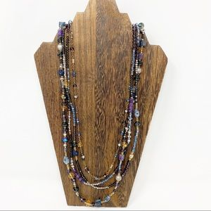 Chico's Necklace Long Layered Beads